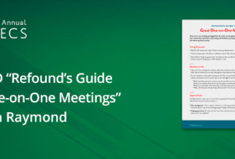Refound's Guide to One on One Meetings by Jonathan Raymond WBECS 2018