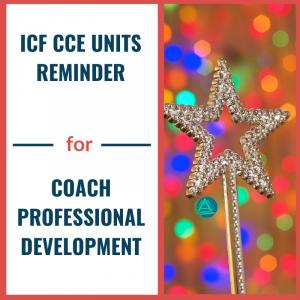 ICF CCE Unit Reminder