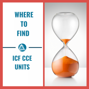 Where to find ICF CCE Units